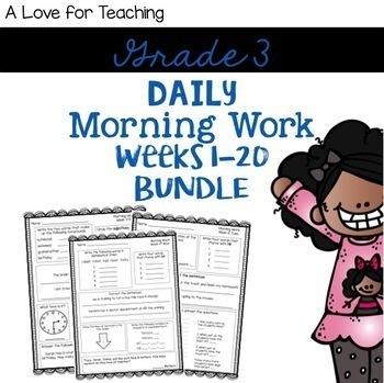 Morning Work Weeks 1-20 Bundle {Editable}