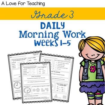 Morning Work Weeks 1-5 {Editable}