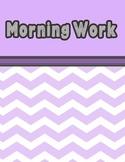 Morning Work - Weeks 11 - 15- Reading Street Unit 3