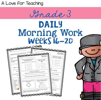 Morning Work Weeks 16-20 {Editable}