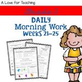 Morning Work Weeks 21-25 {Editable}