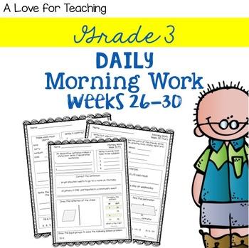 Morning Work Weeks 26-30 {Editable}