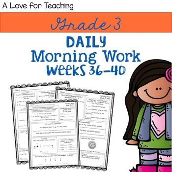 Morning Work Weeks 36-40 {Editable}