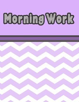 Morning Work - Weeks 6 - 10 - Reading Street Unit 2