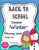 Back To School- Winter Morning Work