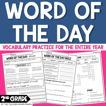 Morning Work: Word of the Day Bundle: Complete Set