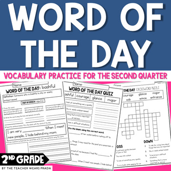 Morning Work: Word of the Day: Quarter 2