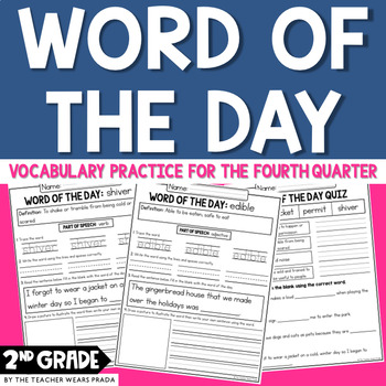 Morning Work: Word of the Day: Quarter 4