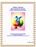 Morning Work Worksheets Long and Short Vowel Review Easter Theme