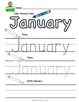 Morning Work: Write and Color the Months of the Year