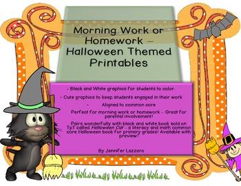 Morning Work *Halloween* & Printables