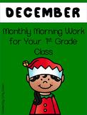Morning Work 1st Grade - December