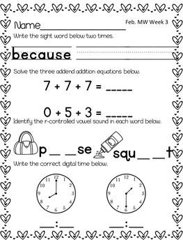 #discountedbundles Morning Work 1st Grade - ENTIRE YEAR