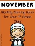Morning Work 1st Grade - November
