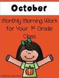 Morning Work 1st Grade - October