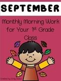 Morning Work 1st Grade - September
