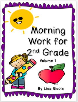 Morning Work for 2nd grade: September