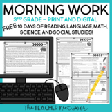 Morning Work for 3rd Grade: Free Week | 3rd Grade Print and Digital Morning Work