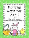 Second Grade Morning Work for April