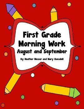 Morning Work for August and September