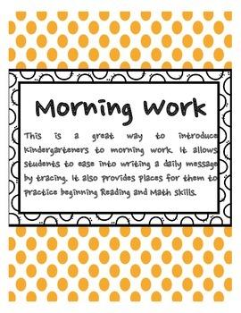 Morning Work for Beginners!