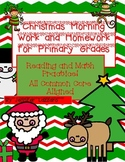 Morning Work for *Christmas* 24 Pages!!! Primary Common Core Reading and Math