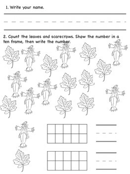 Morning Work for Counting