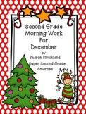 Second Grade Morning Work for December