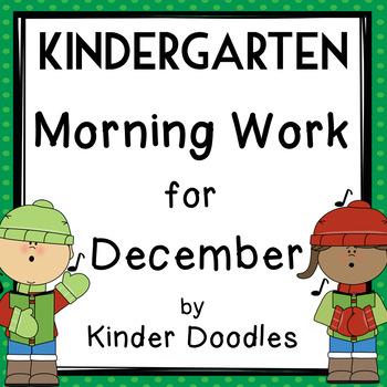 Morning Work for December