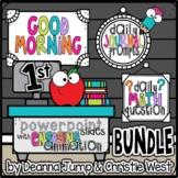 Morning Work for First Grade BUNDLE NO PREP! Editable