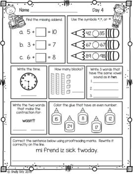 Morning Work for First Grade (Fourth Quarter)