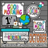 Morning Work for First Grade OCTOBER NO PREP! Editable