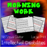 Morning Work for Special Education -No Clutter- Practice Personal Information
