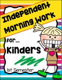 Morning Work for Kindergarten - 1st Semester (Language Art