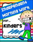 Morning Work for Kindergarten - 2nd Semester (Language Art