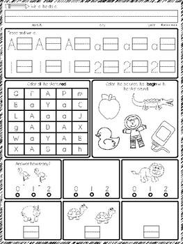 Morning Work for Kindergarten #5 pages