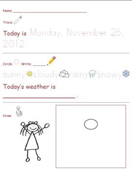 Morning Work for Kindergarten-Nov 26-29