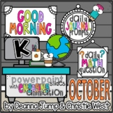 Morning Work for Kindergarten OCTOBER NO PREP! Editable