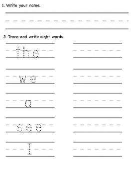 Morning Work for Letters V, S, Z, & J