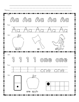 Morning Work for Preschool, Kindergarten, and First Grade BUNDLE {180 Pages}