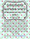 Morning Work for Preschool, Kindergarten, and First Grade SET 1