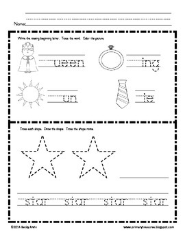 Morning Work for Preschool, Kindergarten, and First Grade SET 3