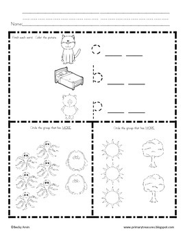 Morning Work for Preschool, Kindergarten, and First Grade SET 4