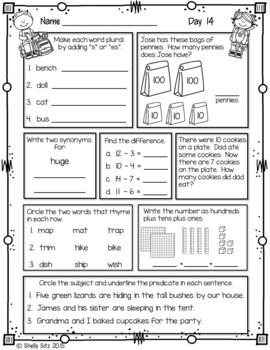 Morning Work for Second Grade (First Quarter)