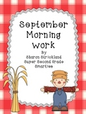 Second Grade Morning Work for September