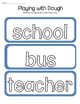 Morning Work for Students with Autism (August) - Freebie