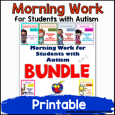 Morning Work for Students with Autism Year Long BUNDLE -
