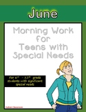 Morning Work for Teens with Special Needs (June)