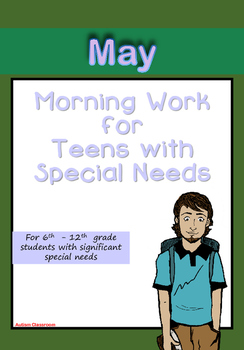Morning Work for Teens with Special Needs (May)