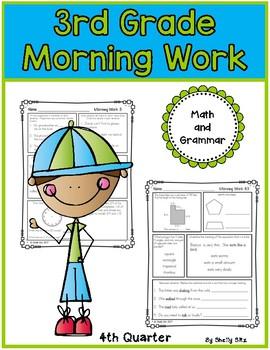 Morning Work for Third Grade (Fourth Quarter)